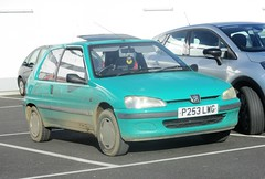 1997 Peugeot 106 XL Automatic (occama) Tags: p253lwg 1997 peugeot 106 xl auto green old car cornwall uk french bangernomics small