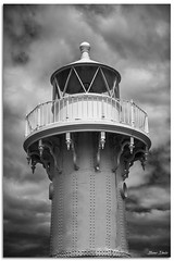 Ulladulla LightHouse (Bear Dale) Tags: historicwroughtironlighthousebuiltin1873wardenhead ulladulla newsouthwales australia lighthouse storm clouds bw black white monocromo monochrome nikon d850 nikkor afs 2470mm f28e ed vr southcoast new south wales shoalhaven beardale lakeconjola fotoworx milton nsw nikond850 photography framed nature