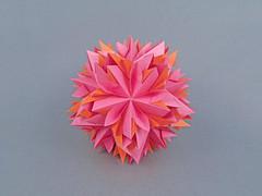 Dahlia (masha_losk) Tags: kusudama кусудама origamiwork origamiart foliage origami paper paperfolding modularorigami unitorigami модульноеоригами оригами бумага folded symmetry design handmade art