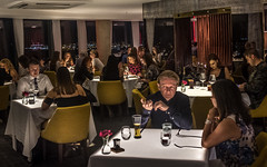 Dining out. (James-Burke) Tags: retaurants couples candidphotography street people panoramicrestaurant nightshots dining scenic liverpool highviewpoint