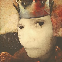 The Queen of Hearts she made some tarts All on a summer's day; The Knave of Hearts he stole those tarts And took them quite away. (lorenka campos) Tags: nurseryrhymes melancholy iphoneart mobileartistry artdigital portrait modernart art