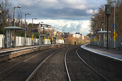 ASHTOWN RAILWAY STATION [ON THE BANKS OF THE ROYAL CANAL]-148261 (infomatique) Tags: ashtowm trainstation railwaystation publictransport rotalcanal streetsofireland streetphotography williammurphy infomatique fotonique sony a7riii zeiss batis 135mm january 2019