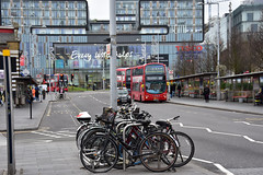 Woolwich (John A King) Tags: bikes buses woolwich new road