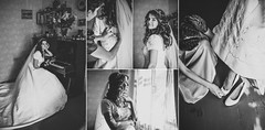 ... (Lena Ivashchenko) Tags: woman flower bouquet bride she people wedding portrait room home bw monochrome