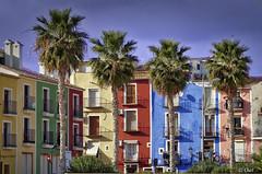 Las cuatro Damas (chelocatala) Tags: pueblo colores casas palmeras villajoyosa alicante