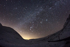 Glenshee Night Shot (jonathan.scaife81) Tags: mily way stars night dark hills snow glenshee perthshire a93 scotland light rokinon 8mm fish eye wide angle canon 650d winter