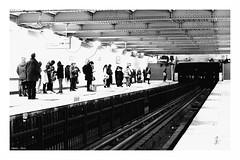 """Street Pause I"" (The Blue Water Lily's Company) Tags: fdrouet nb bw monochrome street metro subway nikon d610 paris"
