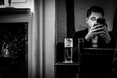 pub (Chilanga Cement) Tags: fuji pub x100f blackandwhite phone light beer