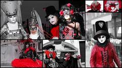 Carnaval rouge (Venise, Italie) (Thierry LARERE) Tags: italie italia venise carnavaldevenise carnaval venezia rouge masquevénitien masque chapeau clown