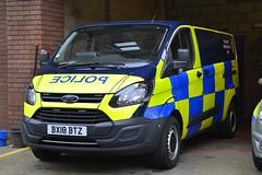 BX18 BTZ (S11 AUN) Tags: staffordshire staffs police ford transit custom anpr traffic car rpu roads policing unit unmarked collision investigation ciu video equipped 999 emergency vehicle bx18btz