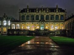 Zwinger 1 (deepaqua) Tags: night zwinger rain dresden courtyard