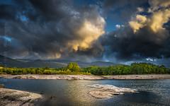 Storm clouds (Ignacio Ferre) Tags: embalsedelpontónalto embalse reservoir lago lake sierradeguadarrama sanildefonso segovia comunidaddecastillayleón españa spain paisaje landscape naturaleza nature sunset puestadesol clouds nubes nikon