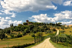 Val D'Orcia (A_Raven_) Tags: tuscany italy toscana landscape sky clouds landscapes trees green panorama valdorcia countryside bluesky bellaitalia beautiful view scenery