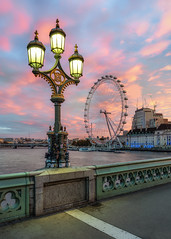 The Eye - From Westminster Bridge (Luke Goodway) Tags: tourist sunrise colour urban cityscape city nikon d850 westminster bridge london eye