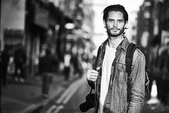 100 Strangers: 172 Ed (Alternative) (ArnabKGhosal) Tags: 100strangers 85mm arnabghosalphotography arnabkghosal blackandwhite cameraandlenses environmentalportrait londonphotographer naturallight nikon portrait streetphotography streetportraits