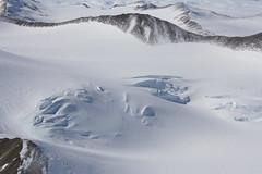 Gletscherspalten Luftansicht