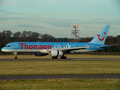 G-BYAS Thomson Holidays (Gerry Hill) Tags: edinburgh airport gerry hill scotland turnhouse ingliston d90 d80 d70 d7200 d5600 boathouse bridge nikon aircraft aeroplane international airline edi egph airplane transport gbyas thomson holidays tui operated by britannia airways boeing 757204 b757 b 757 204