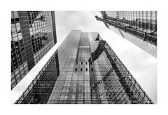 City Towers (PeteZab) Tags: cityoflondon commerce multistorey highrise office skyscraper tall building architecture glass steel modern blackandwhite mono peterzabulis petezab london uk reflection