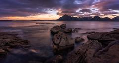 Elgol (reinaroundtheglobe) Tags: elgol isleofskye scotland seascape longexposure sunset landscape nopeople ocean water rocks