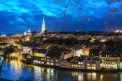 Old Town of Bern (Bephep2010) Tags: 2018 35mmf14dghsmart 7markiii aare abend alpha altstadt bern blauestunde fluss herbst ilce7m3 schweiz sigma sony stadt switzerland wolken autumn bluehour city clouds evening fall historic historisch oldtown river ⍺7iii kantonbern ch