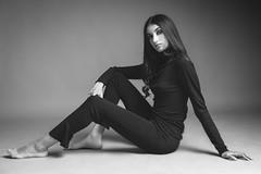 Samia (aminefassi) Tags: portrait beauty floor studio onelight people aminefassi black sony a7riii 55mmf18 mode fashion