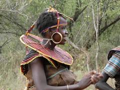 Pokot woman (Linda DV) Tags: pokot minority people tribe culture lindadevolder africa 2018 lumix travel geotagged nature kenya fauna baringocounty baringolake pokotpeople pokotminority ethnicminority tradition fadingculture