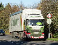 Eddie Stobart PX15 JHU (Rosemary Sarah) at Welshpool (Joshhowells27) Tags: lorry truck scania r450 scaniar450 eddiestobart walkingfloor px15jhu rosemarysarah