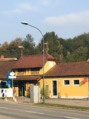Kraftwerk (Jeremy Caney) Tags: austria bolt building centraleurope craft craftmanship europe hardware kraft kraftwerk lightening shop store tools travel village werk yellow iphone horn niederösterreich