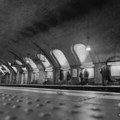 DSCF8007 (dan_c_west) Tags: bronica sqa medium format 120 ilford film square london bw monochrome city baker street underground station victorian engineering