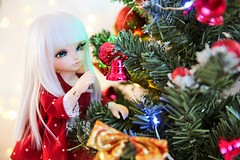 Christmas Time ♥ (SunShineRu) Tags: christmas tree merry holidays happy littlefee luna ltf lishe cute kawaii fairyland doll dolls yosd ball jointed lights