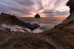 Splashzone (Darkness of Light) Tags: oregon coast cape kiwanda samuel boardman canonbeach florence bandon coosbay pacificocean seastack sunset burn clouds waves sony a7r3 a7riii fe 1224mm g