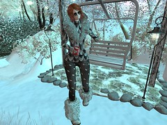Entrance no.350 (Curiosse) Tags: outfit conjunto black gray sweater stole jean boots gloves 2018 december poe hunt gifts hopshop event
