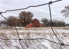 A Bit of Country (arrjryqp6) Tags: picturesque old oldbarn ruralmichigan winterscene framed weathered countrylife country barnsofmichigan barn rural rustic