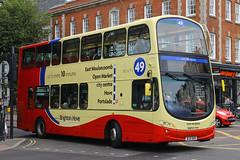 BJ11 XHO, Steine Gardens, Brighton, August 6th 2015 (Southsea_Matt) Tags: bj11xho 413 route49 wright eclipse gemini volvo b9tl brightonhove goahead steinegardens brighton sussex canon 60d 1850mm august 2015 summer bus omnibus vehicle transport tonyhewson