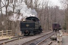 The Run-Around (Dan A. Davis) Tags: newhopeivyland nhi nhi40 lahaska newhope pa pennsylvania steamengine steamlocomotive railroad train passengertrain