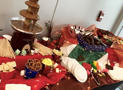 (cafe_services_inc) Tags: cafeservicesinc arbella holidayparty holiday2018 buffet dessert chocolate chocolatefountain fruit pretzels brownies cookies ricecrispies cheflarry