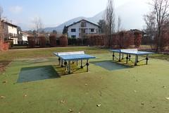 Pingpong tables @ Parc Vignières-Pommaries @ Annecy-le-Vieux (*_*) Tags: europe france hautesavoie 74 annecy annecylevieux january winter hiver 2019 morning parcvignierespommaries park sunny savoie fog