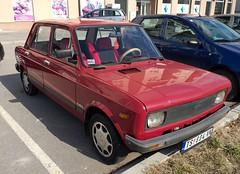 1989 Zastava 128 Skala 55 (FromKG) Tags: zastava 128 skala 55 red car kragujevac serbia 2017 trstenik