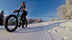 First One (Patrick Strahm) Tags: winter snow fatbike ride 02022019 ski slope blue sky