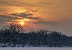 Sunrise along the Grand River.... (Kevin Povenz Thanks for all the views and comments) Tags: 2019 february kevinpovenz westmichigan michigan ottawa ottawacounty ottawacountyparks jenison sunrise early earlymorning sky clouds trees grandriver winter cold canon7dmarkii haze