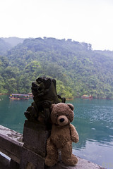 Photo (Adventures With Teddy) Tags: teddy adventureswithteddy photographers tumblr original bear travel photography adventures with adventure china lion bug blog water nature statue