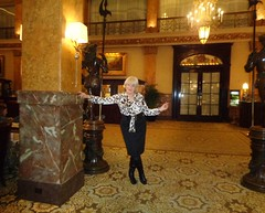 When Presenting Yourself En Femme, You Should be Proud Of How You Look (Laurette Victoria) Tags: blouse boots animalprint blonde laurette woman hotel lobby milwaukee pfisterhotel