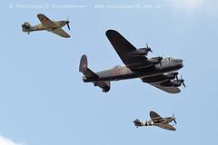 6155 BBMF Spitfire AB910 Lancaster Hurricane LF363 (photozone72) Tags: bbmf rafbbmf raf hurricane lf363 spitfire ab910 lancaster avro aviation aircraft airshows airshow canon canon7dmk2 canon100400f4556lii 7dmk2 farnborough fia