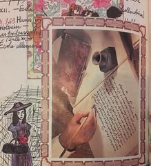 Page du journal (Véronique3) Tags: encre plume dessin journal collage miseenabîme