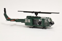 Bell UH-1D Huey (3) (Dornbi) Tags: lego rotors helicopter uh1d huey iroquois bell vietnam army us american
