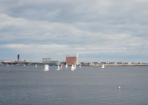 Boston Harbor, sailing in November