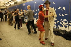 Couples Dance (agent j loves nyc) Tags: nostalgiatrain vintagetrainswingdanceparty dance dancers dancing vintagetrain swingdanceparty secondavenuesubway subway mta nyc newyorkcity