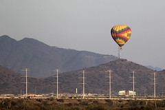 Almost shocking (twm1340) Tags: hot air balloon loop303 phoenix az arizona dusk late evening roadside explore explore166