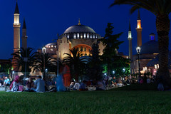 Hagia Sophia (djcotto1971) Tags: istanbul carigrad constantinople europe asia nikon nikkor d5500 christianity church cathedral mosque islam muslim religion religious byzantine blue sky minaret palm night lights architecture sultanahmet fatih