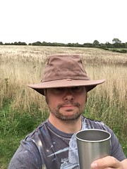 I love my new hat! (dark_dave25) Tags: south downs uk england camping september 2018 hot